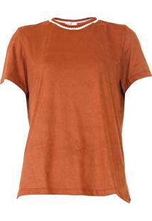 Camiseta Dress To Suede Caramelo - Kanui