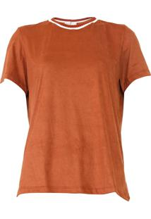 Camiseta Dress To Suede Caramelo