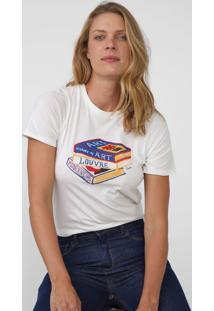Camiseta Cantão Books Off-White - Kanui
