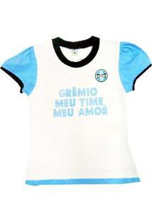 Baby Look Texto Glitter Meia Malha Menina Grêmio Reve Dor - 4 Anos -  Feminino e35643a6ee635