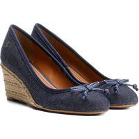 56c13d9f87 Scarpin Santa Lolla Salto Anabela Jeans - Feminino-Jeans