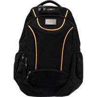 Mochila Backpack Sport- Preta   Laranja- 51X35X26Cm b5399c2a9af