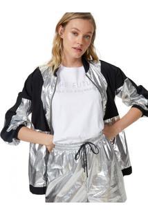 Amaro Feminino T-Shirt Sem Manga Ampla Future, Branco