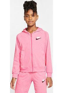 Jaqueta Infantil Nike Sportswear Moletom Capuz Feminina - Feminino