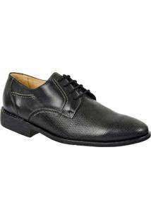 Sapato Masculino Derby Sandro Moscoloni Pablo Pret