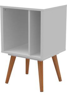Livreiro Retro Vinil Pequeno Branco Fosco Com Pes Claros 66 Cm (Alt) - 50659 Sun House