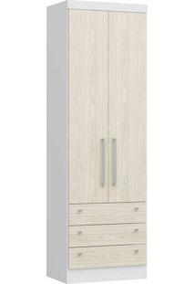 Modulo Com 2 Portas E 3 Gavetas Infinity 3821A-Castro Móveis - Branco Tx / Nudi