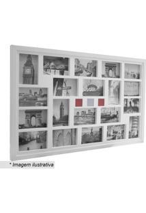 Painel Para 20 Fotos- Branco- 54X84X3Cm- Kaposkapos
