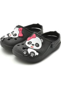 Babuche Luelua Panda Preto