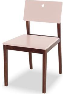 Cadeira Flip Cor Cacau Com Bege Claro - 30833