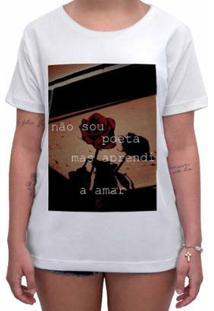 Camiseta Impermanence Estampada Amor Feminina - Feminino