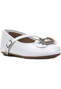 Sapato Para Bebe Menina - Feminino-Branco