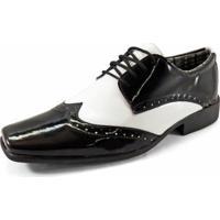 29c4dd0ff9 Sapato Social La Faire 2000 - Masculino-Preto+Branco