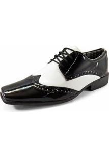 a8b08e448 Sapato Social La Faire 2000 - Masculino-Preto+Branco
