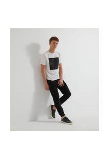 Camiseta Com Estampa Quadrada | Request | Branco | Gg