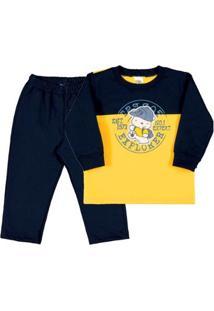 Conjunto Bebê Menino - Masculino-Amarelo+Marinho