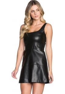 Vestido Curto Justo Leather