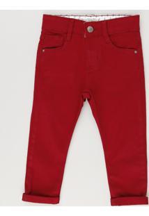 Calça Color Infantil Skinny Vermelha
