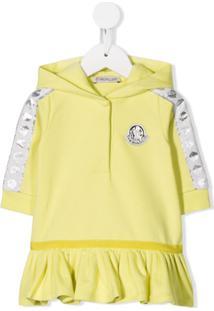 Moncler Kids Vestido Com Logo - Amarelo