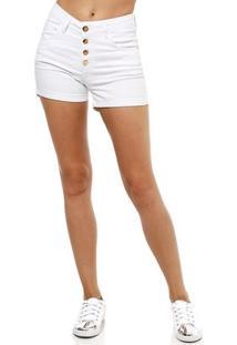 Short Jeans Feminino Uber Branco