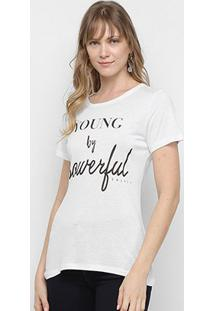 Camiseta Colcci Powerful Feminina - Feminino-Branco