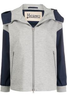 Herno High-Neck Hooded Jacket - Azul