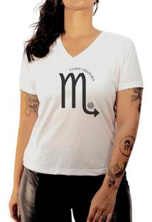 Camiseta Luma Ventura Signo Escorpião Branca