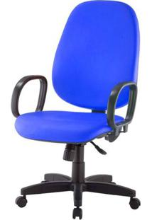 Cadeira Corporate Presidente Cor Azul Com Base Nylon - 43971 - Sun House