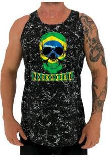 Regata Longline Mxd Conceito Skull Brazil Masculina - Masculino