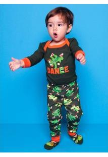 Pijama Infantil Puket Jacaré - Masculino