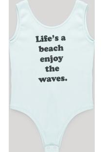 "Body ""Life'S A Beach Enjoy The Waves"" Verde Claro"