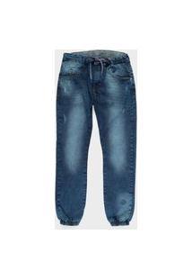 Calça Juvenil Jeans Menino Lavagem Escura