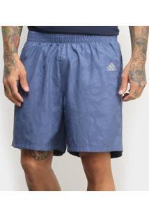Short Adidas Run It 3S Masculina - Masculino-Azul+Marinho