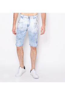 Bermuda Jeans Ice Risk Emporio Alex Jeans Off-White