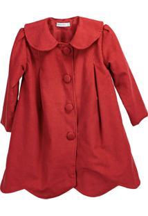 Casaco Pipoca Doce Veludo Cotelê Vermelho