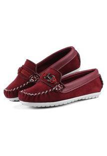 Sapato Mocassim Infantil Mr Try Shoes Social Vermelho