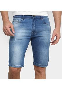 Bermuda Jeans Hd Confort Masculina - Masculino-Azul