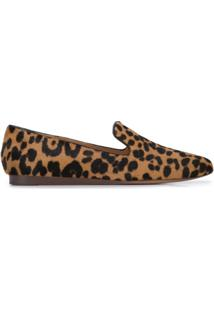 Veronica Beard Mocassim Animal Print - Marrom