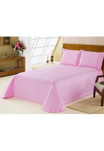 Colcha Matelasse Delicate Bliss Percal 200 Fios Queen 3 Pe