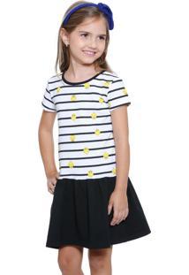 Vestido Infantil Estampa Piu Piu Looney Tunes