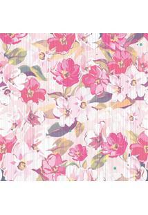 Papel De Parede Floral- Rosa Claro & Pink- 300X0,58Cjmi Decor