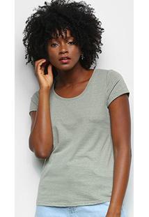 Camiseta Lecimar Básica Feminina - Feminino-Amarelo