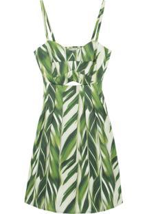 Vestido Bamboo Recorte Estruturado - Verde