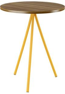 Mesa Lateral Uf Ebano E Amarelo