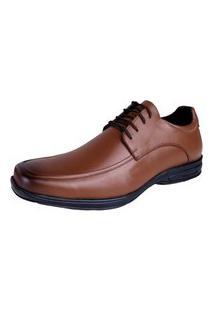 Sapato Social Couro Legitimo Hype Confort Conhaque