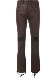 Marcelo Burlon County Of Milan Calça Jeans Skinny Destroyed - Vermelho