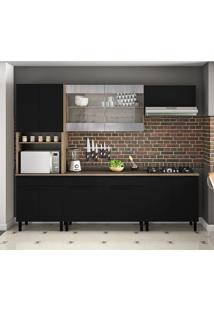 Cozinha Compacta Itamaxi Iii 11 Pt 3 Gv Preta E Castanho