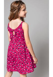 Vestido Infantil Menina Em Malha 100% Algodão Com Alças Finas Hering Kids