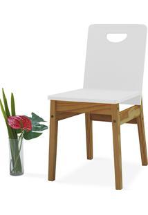 Cadeira Branca Tucupi 40X51X81Cm - Acabamento Stain Nózes E Laca Branco