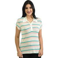 4ee6fb11a3 Blusa Moché Camisa Polo - Feminino-Salmão